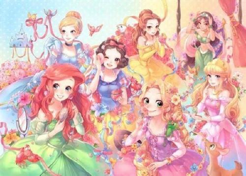 Tenyo Japan Jigsaw Puzzle D-500-450 Disney Purely Princess (500 Pieces)