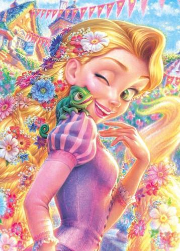 Tenyo Japan Jigsaw Puzzle D-500-468 Disney Tangled Rapunzel (500 Pieces)
