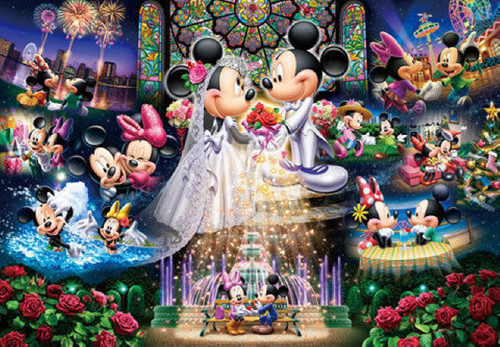 Tenyo Japan Jigsaw Puzzle DG-2000-544 Disney Mickey Mouse Wedding (2000 Pieces)