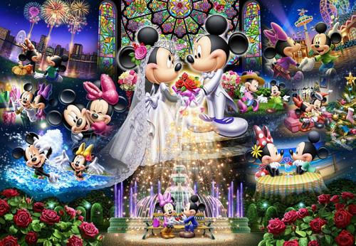 Tenyo Japan Jigsaw Puzzle DS-1000-769 Disney Mickey Wedding Dream (1000 Pieces)
