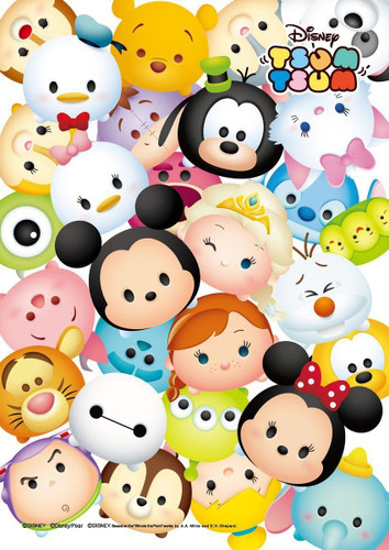 Tenyo Japan Jigsaw Puzzle DSG-266-759 Disney Tsum Tsum (266 Pieces)