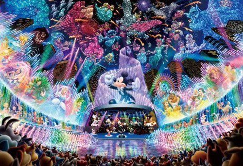 Tenyo Japan Jigsaw Puzzle DSG-500-437 Disney Water Dream Concert (500 Pieces)