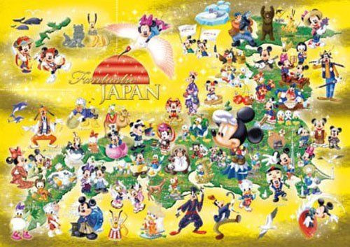 Tenyo Japan Jigsaw Puzzle DW-1000-432 Disney Fantastic Japan (1000 S-Pieces)