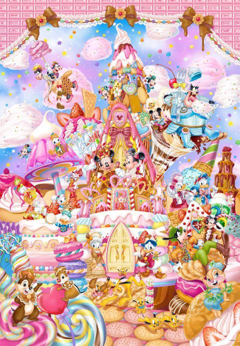 Tenyo Japan Pure White Jigsaw Puzzle DP-1000-024 Disney Mickey (1000 Pieces)