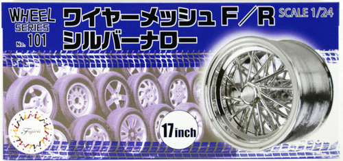 Fujimi 193533 W-101 1/24  Wire Mesh F/R Silver Narrow 17-inch