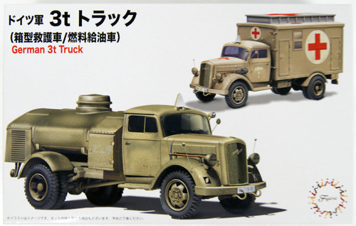Fujimi Military Series No.4 German 3t Truck (Truck/Refueling Car) 1/72 Scale