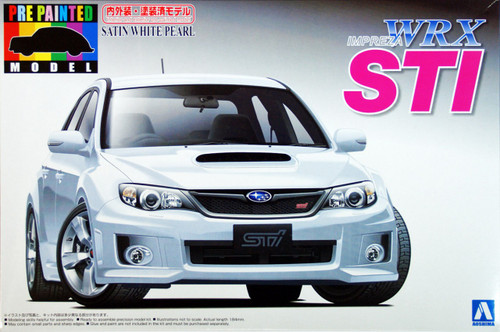 Aoshima 04906 Subaru Impreza WRX STi White 1/24 Scale Kit (Pre-painted Model)
