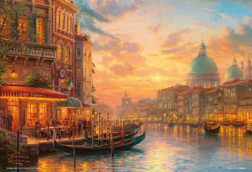 Beverly Jigsaw Puzzle M81-570 Thomas Kinkade Venetian Cafe (1000 S-Pieces)