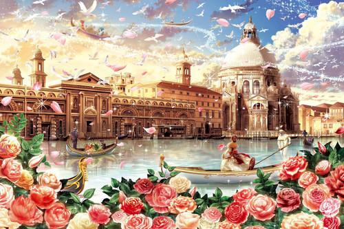Epoch Jigsaw Puzzle 12-060 Fantasy Landscape Venetian Romance (1000 Pieces)