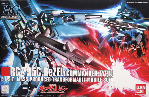 Bandai HGUC 108 Gundam RGZ-95C ReZEL COMMANDER 1/144 Scale Kit