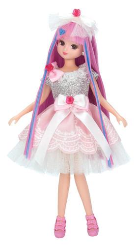 Takara Tomy Licca-chan Jewel Up Girly Rose Dress Set (125884)