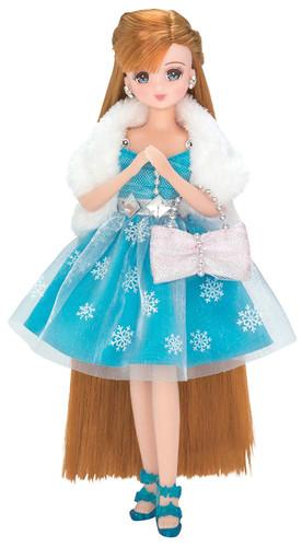 Takara Tomy Licca-chan Jewel Up Snow Jewel Dress Set (125891)