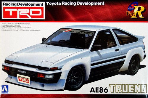 Aoshima 06337 Toyota AE86 Trueno TRD Toyota Racing Development 1/24 Scale Kit