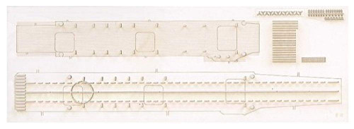 Aoshima Waterline No.528 IJN Carrier SORYU Deck Sheet 1/700 Scale
