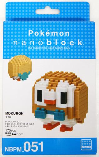 Kawada NBPM-051 nanoblock Pokemon Rowlet (Mokuroh)