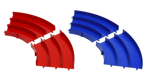 Tamiya 69573 Mini 4WD Japan Cup Junior Circuit Curve Section Blue/Red 2pcs