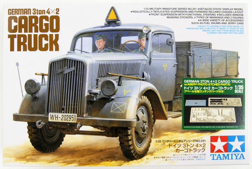 Tamiya 25160 German Opel Blitz 3 Ton 4x2 Cargo Truck w/Photo Etched 1/35 Scale Kit