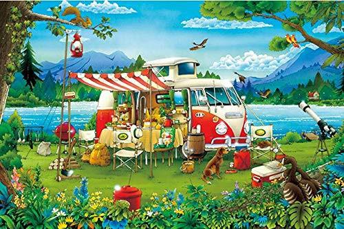 APPLEONE Jigsaw Puzzle 1000-839 Hiroyuki Tanikawa Camping Holiday (1000 Pieces)