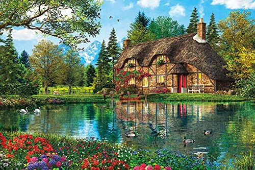 APPLEONE Jigsaw Puzzle 1000-840 Dominic Davison Floral Lake Villa (1000 Pieces)
