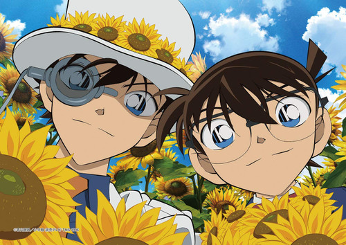 Epoch Jigsaw Puzzle 03-058 Detective Conan Kid and Sunflower (108 Pieces)