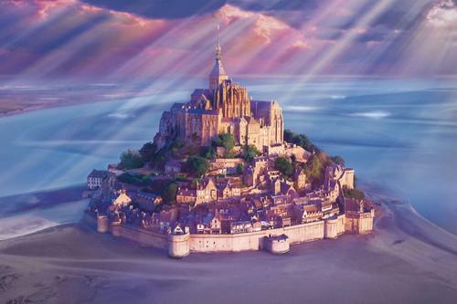 Epoch Jigsaw Puzzle 10-808 France Mont Saint-Michel (1000 Pieces)
