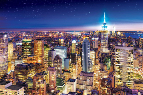 Epoch Jigsaw Puzzle 10-809 Night View of New York (1000 Pieces)