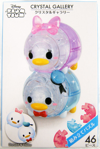 Hanayama Crystal Gallery 3D Puzzle Disney Tsum Tsum Donald & Daisy 4977513065658