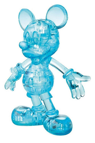 Hanayama Crystal Gallery 3D Puzzle Mickey Mouse (Classic Blue) 4977513076012