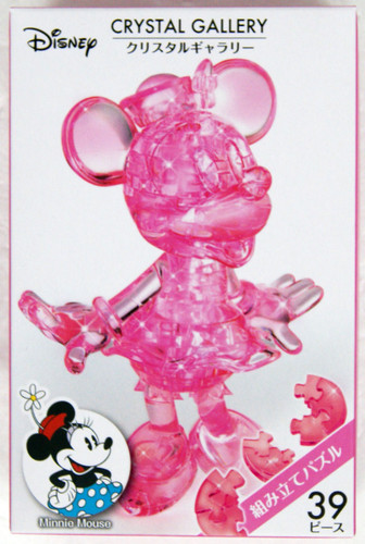 Hanayama Crystal Gallery 3D Puzzle Disney Minnie Mouse (Pink) 4977513076029