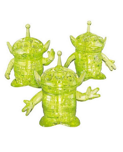 Hanayama Crystal Gallery 3D Puzzle Disney Toy Story Little Green Men Aliens 4977513076210