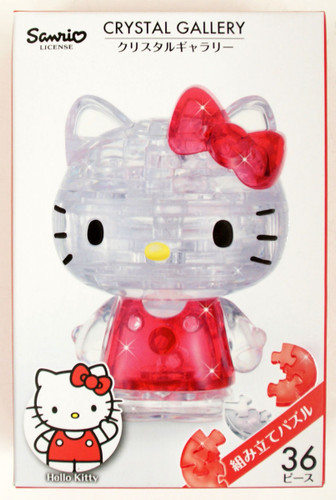 Hanayama Crystal Gallery 3D Puzzle Hello Kitty 4977513076289