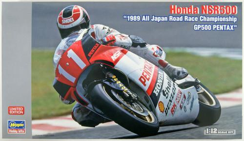 Hasegawa 21721 Honda NSR500 1989 Japan Road Race Championship GP500 PENTAX 1/12 Scale Kit