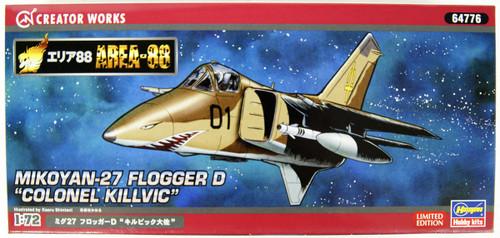 Hasegawa 64776 Area 88 MiG-27 Flogger D Colonel Kilvic 1/72 Scale Kit