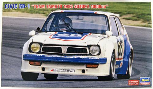 Hasegawa 20409 Civic SB-1 Team YAMATO 1982 1000km Suzuka 1/24 Scale Kit
