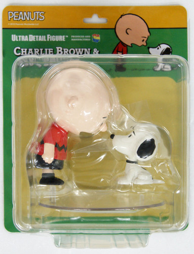 Medicom UDF-453 Ultra Detail Figure Peanuts Series 9 Charlie Brown & Snoopy 50's
