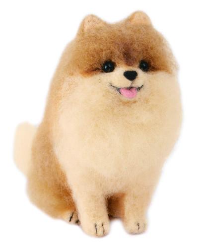 Hamanaka  H441-539 Aclaine Felt Wool Mascot Pomeranian Dog Kit