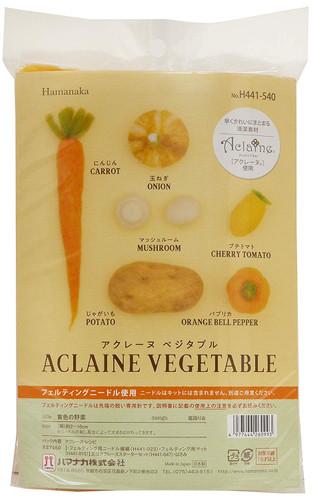 Hamanaka H441-540 Aclaine Felt Wool Mascot Yellow Vegetable Kit