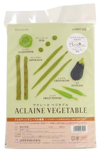Hamanaka H441-542 Aclaine Felt Wool Mascot Green Vegetable Kit