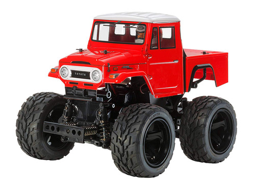 Tamiya 47305 Toyota Land Cruiser 40 Pickup Painted Red Body (GF-01) 1/12 Scale RC Car Series