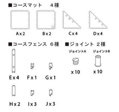 Kyosho 87051-03 Mini-Z GrandPrix Circuit 50 45-Degree Corner Expansion Set (10 pcs)