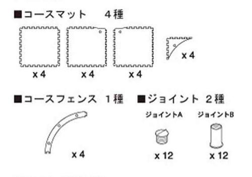 Kyosho 87051-02 Mini-Z GrandPrix Circuit 50 Large Corner Expansion Kit (16 pcs)
