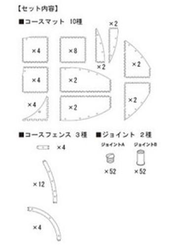 Kyosho 87051-04 Mini-Z Grand Prix Circuit 50 Oval Expansion Set (32 pcs)