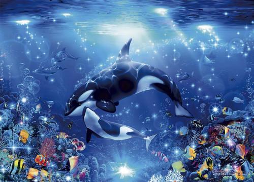 Epoch Jigsaw Puzzle 07-703 Lassen Love of Orcas (500 Pieces)