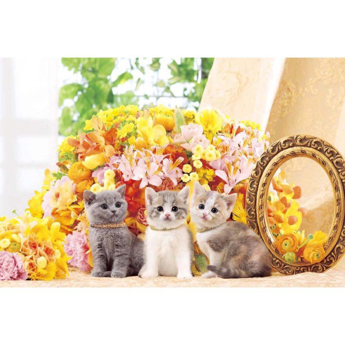 Epoch Jigsaw Puzzle 10-747 Cute Flower & Cats (1000 Pieces)