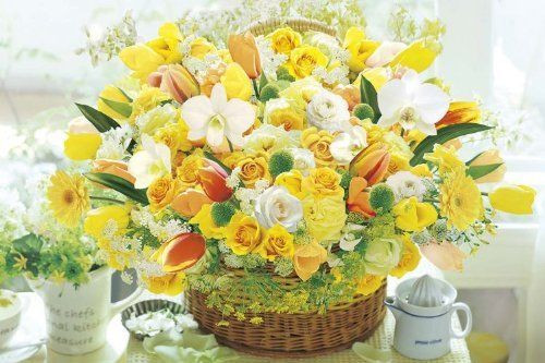 Epoch Jigsaw Puzzle 11-503 Flower Art Lucky Yellow (1000 Pieces)