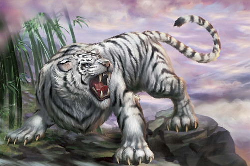 Epoch Jigsaw Puzzle 23-079 Japanese Art White Tiger (2016 S-Pieces)