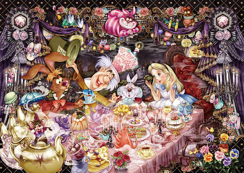 Tenyo Japan Jigsaw Puzzle DW-1000-004 Alice in Wonderland Tea Party (1000 S-Pieces)