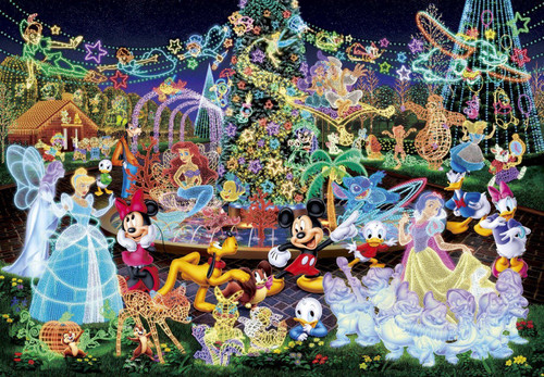 Tenyo Japan Jigsaw Puzzle DW-1000-449 Disney Magical Illumination (1000 S-Pcs)