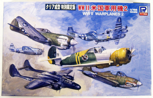 Pit-Road Skywave S43C WWII U.S. Warplanes Vol.2 (Clear Ver.) 1/700 Scale Kit