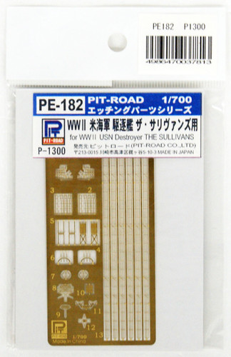 Pit-Road PE182 WWII USN Destroyer The Sullivans Photo-Etched Parts 1/700 Scale